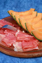 Melon and ham Royalty Free Stock Photo