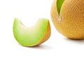 Melon honeydew and melon slice Royalty Free Stock Photo