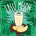 Melon Indian drink Lassi with fresh juice