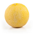 Melon ripe on white background Royalty Free Stock Images