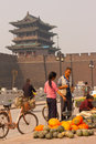 Melon seller Pingyao Royalty Free Stock Photo