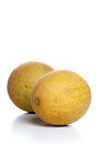 Melon on white background studio shot Royalty Free Stock Images