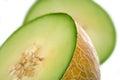 Melon on white background studio shot Royalty Free Stock Photography