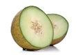 Melon on white background - studio shot Royalty Free Stock Photo