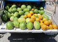 Melons on truck for Sale Royalty Free Stock Photo