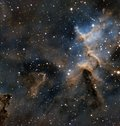 Melotte 15 in the heart nebula Royalty Free Stock Photo