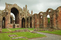 Melrose abbey scottish borders uk is a magnificent ruin on a grand scale with lavishly decorated masonry Stock Photography