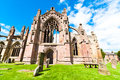 Melrose abbey side entrance of the in scotland uk Stock Photos