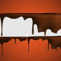 Melted chocolate dripping vector illustration eps Royalty Free Stock Photography
