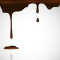 Melted chocolate dripping vector illustration eps Stock Image
