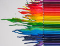 Melted crayon art Royalty Free Stock Photo