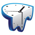 Melting clock abstract blue illustration Royalty Free Stock Photography