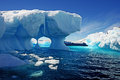 Melting iceberg a in antarctic waters Stock Images
