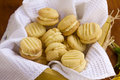 Melting moments delicious fresh baked shortbread biscuits ready to serve Stock Photo