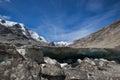 Melting mountain glacier stock photo due to global warming Stock Photo