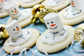 Melting Snowman Christmas Cookie Royalty Free Stock Photo