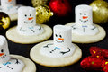 Melting Snowman Christmas cookies Royalty Free Stock Photo
