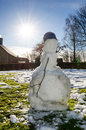 Melting snowman Royalty Free Stock Photo
