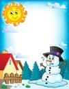 Melting snowman theme image 3 Royalty Free Stock Photo