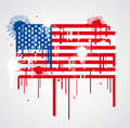 Melting USA flag Royalty Free Stock Photos
