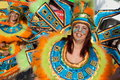 Member of the Ala section of a Samba School in the Royalty Free Stock Photos