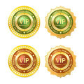 Member golden badge gold vip id Royalty Free Stock Photos