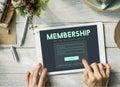 Member Log in Membership Username Password Concept Royalty Free Stock Photo