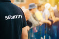 Member of security guard team on public event Royalty Free Stock Photo