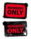 Members only Royalty Free Stock Photo