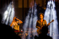 Members of the band hadag nahash performs on independence day april karmiel israel is famous is an israeli hip hop funk bandת Stock Image
