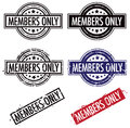 Members only stamp a rubber set Royalty Free Stock Photo