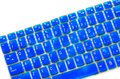 Membrane keyboard blue on white background Royalty Free Stock Images
