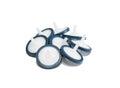 Membrane syringe filters isolated on white background studio shot Royalty Free Stock Photos