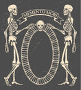 Memento mori vector illustration with skeletons Royalty Free Stock Images