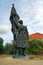 Memento park open air museum budapest dedicated to monumental statues hungary s communist period – there statues lenin marx Royalty Free Stock Photography