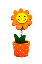 Memo clip the sun flower Royalty Free Stock Images
