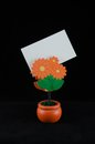 Memo holder orange flower shape Stock Photography