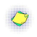 Memo notes with paper clip icon, comics style Royalty Free Stock Photo