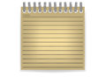 Memo paper notepad on a white background Stock Photography