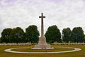 Memorial cross normandy war cemetery large statue in the world ii france Stock Images