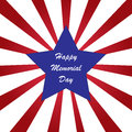 Memorial day background with american flag colors Royalty Free Stock Image