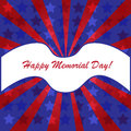 Memorial day background with american flag colors Royalty Free Stock Photos