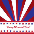 Memorial day background with american flag colors Royalty Free Stock Images