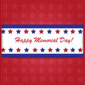 Memorial day background with american flag colors Stock Images