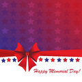 Memorial day background with american flag colors Royalty Free Stock Photography