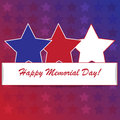 Memorial day background with american flag colors Stock Photo