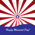 Memorial day background with american flag colors Stock Image