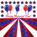 Memorial day background with balloons and american flag colors Royalty Free Stock Images