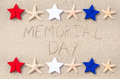 Memorial day background on the sandy beach Stock Photography
