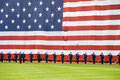 Memorial Day festivities before Red Sox game Royalty Free Stock Image